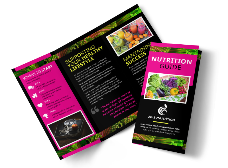 health nutrition brochure template