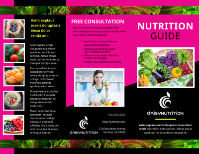 Health Nutrition Brochure Template Preview 1