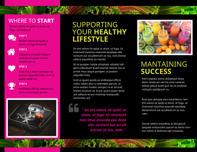 Health Nutrition Brochure Template Preview 2