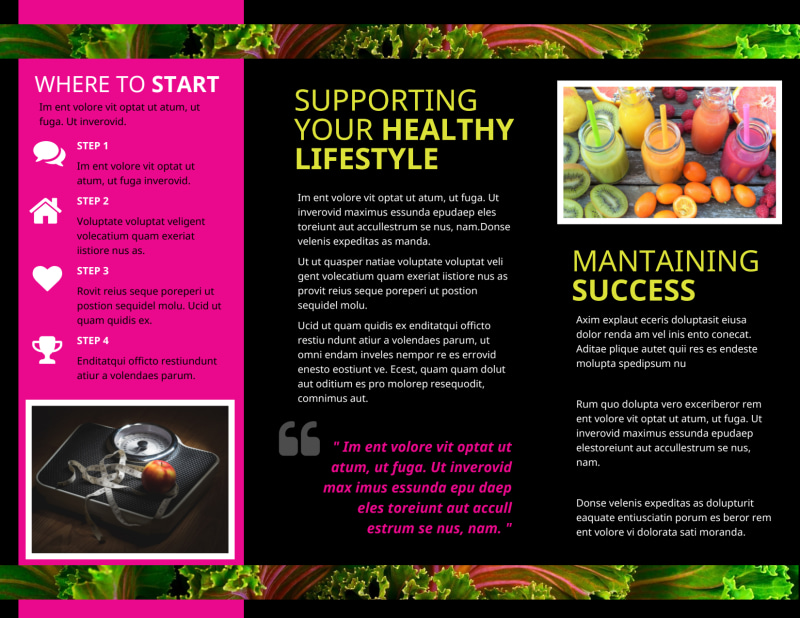 Health Nutrition Brochure Template Preview 3