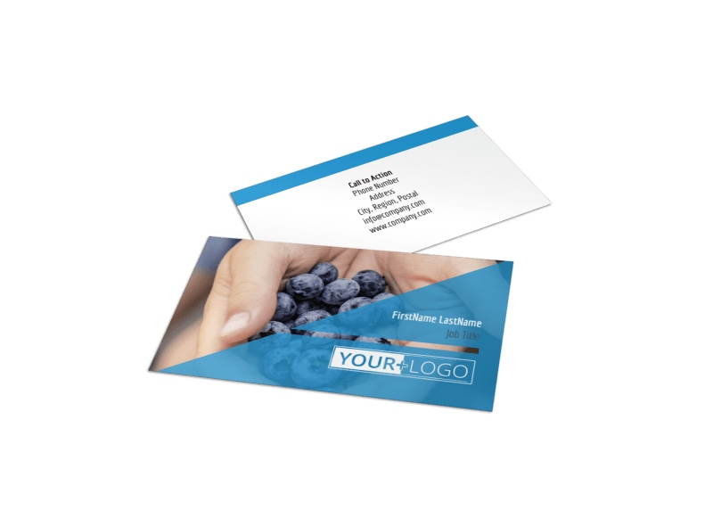 Health Nutrition Business Card Template