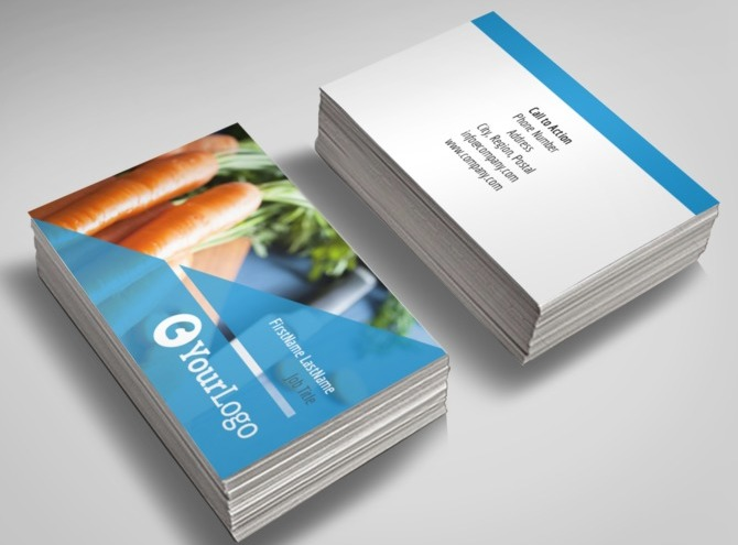 Health nutrition business card template for Nutrition business cards