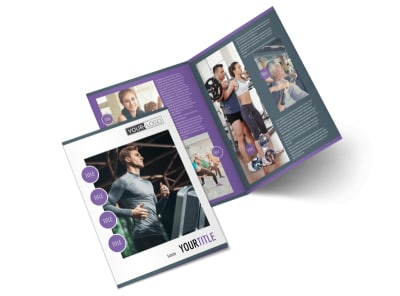 Sports & Health Club Bi-Fold Brochure Template 2
