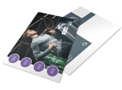Sports & Health Club Postcard Template 2 preview
