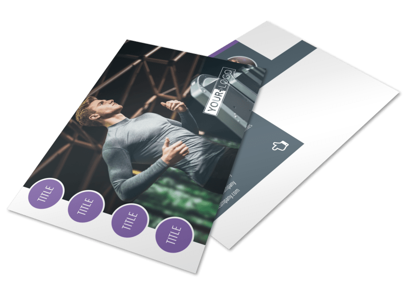 Fitness Gym Postcard Template Preview 1