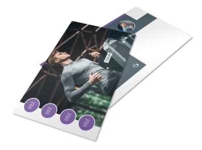 Sports & Health Club Postcard Template preview
