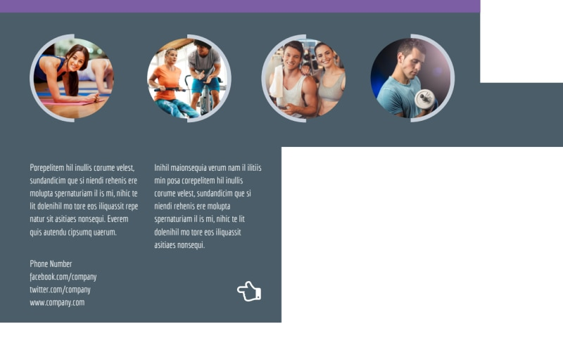 Fitness Gym Postcard Template Preview 3