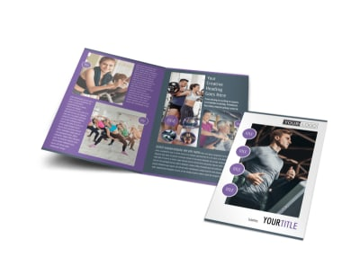 Sports & Health Club Bi-Fold Brochure Template preview