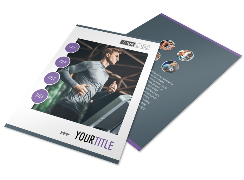 Sports & Health Club Flyer Template