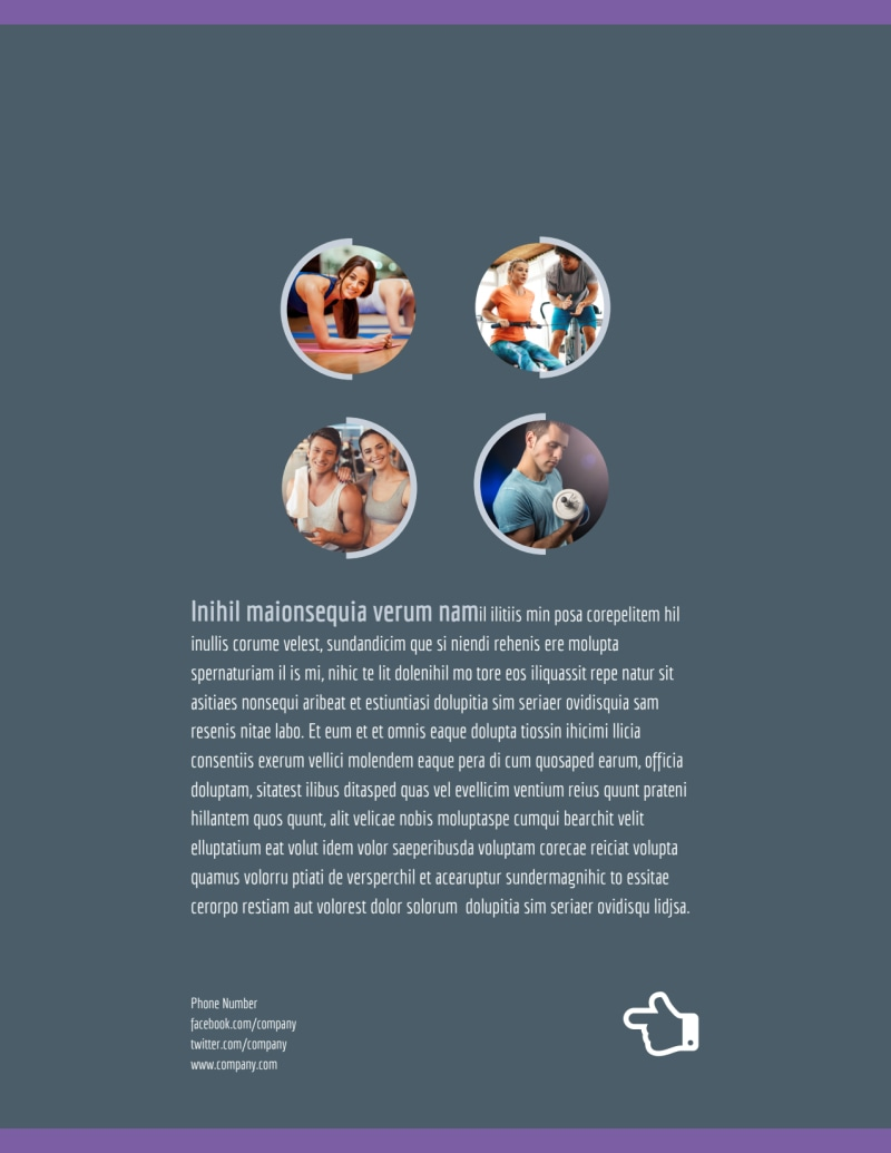 Fitness Gym Flyer Template Preview 3