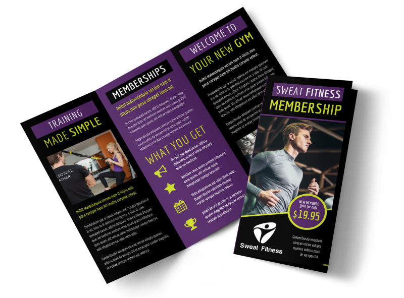 Fitness Gym Brochure Template  Mycreativeshop
