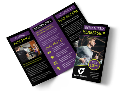 Sports & Health Club Brochure Template preview