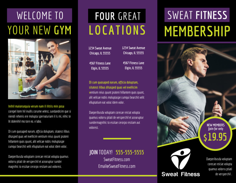 Fitness Gym Brochure Template Preview 2