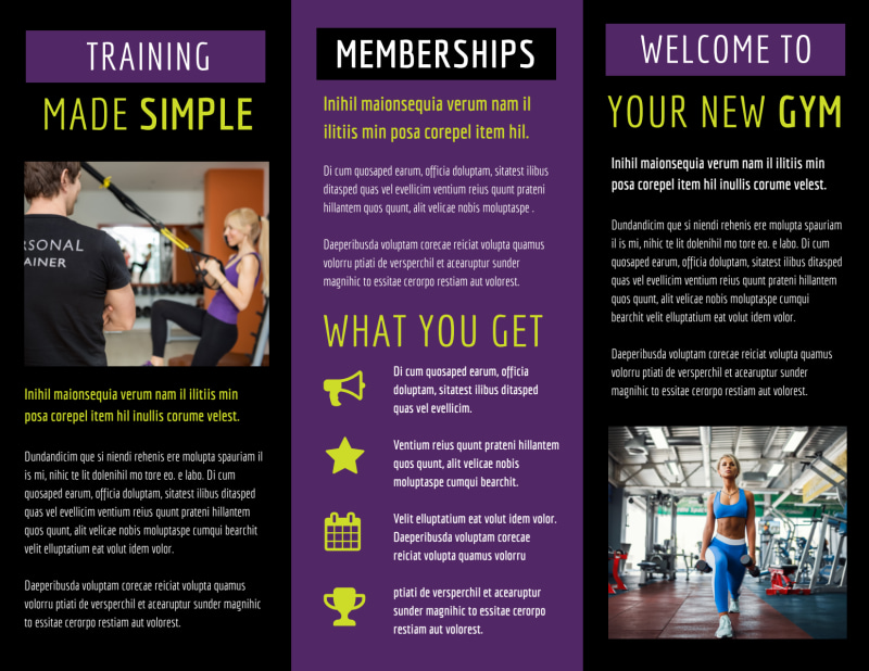 Fitness Gym Brochure Template Preview 3