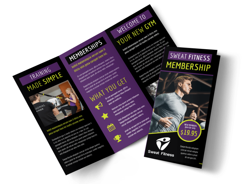 Fitness Gym Brochure Template Preview 1