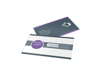 Sports & Health Club Business Card Template preview