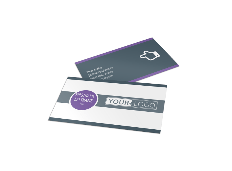 Fitness Gym Business Card Template Preview 1