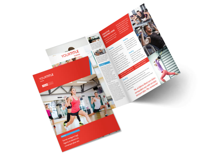 fitness brochure design - fitness center brochure template mycreativeshop