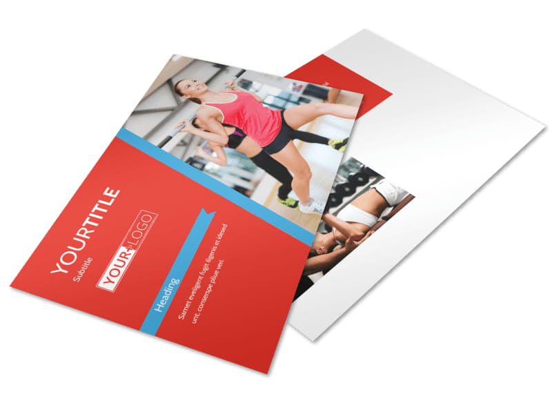 Health & Fitness Center Postcard Template 2