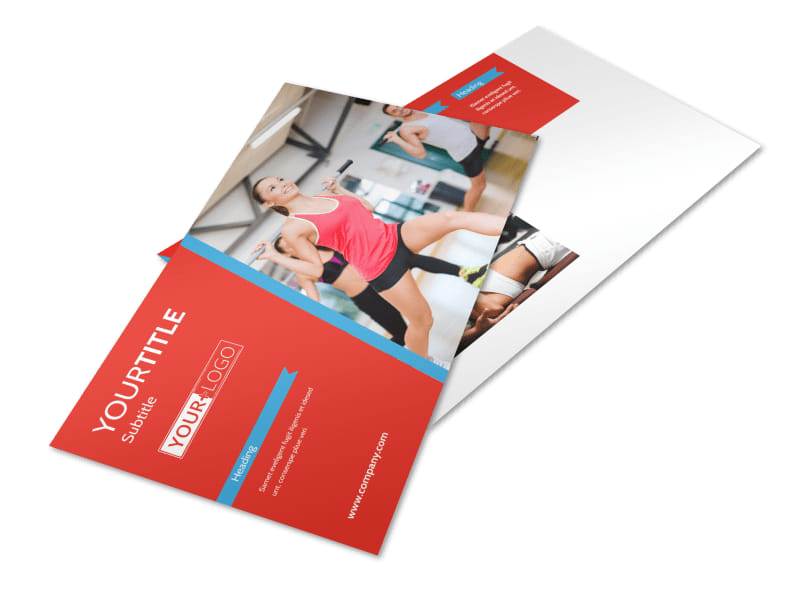 Health & Fitness Center Postcard Template