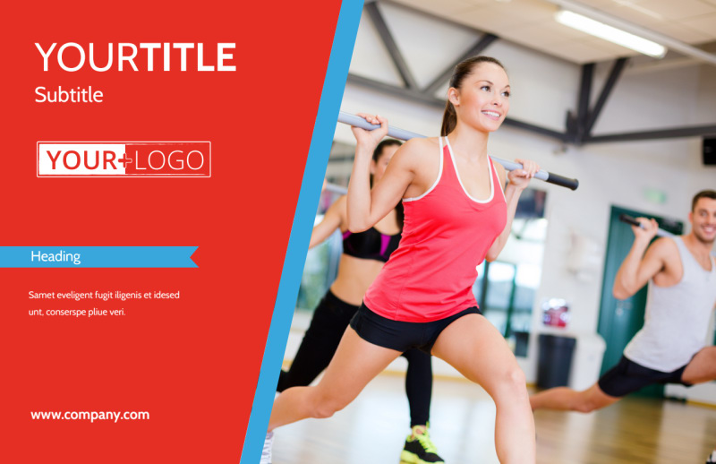 Fitness Center Postcard Template Preview 2