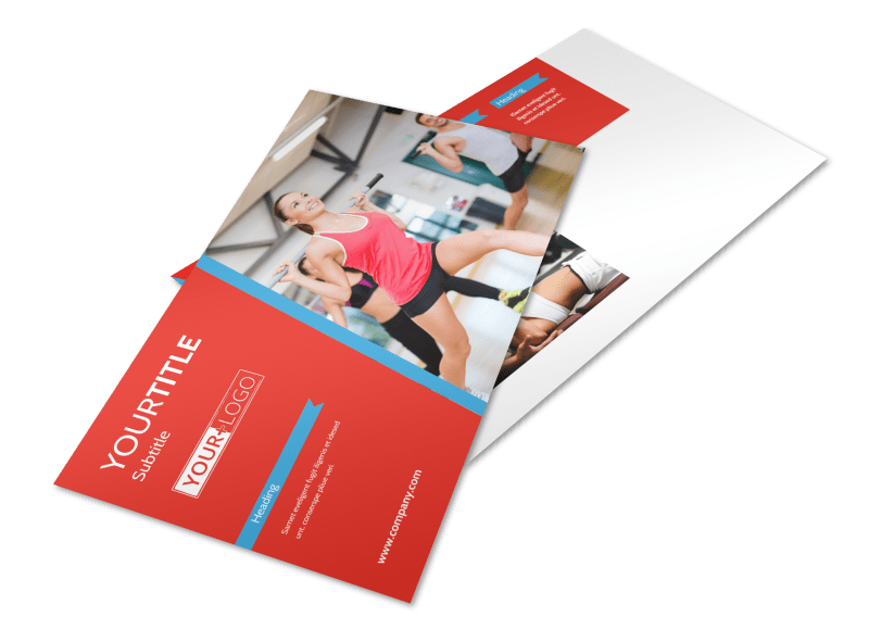 Fitness Center Postcard Template Preview 1