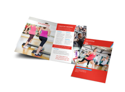 Health & Fitness Center Bi-Fold Brochure Template