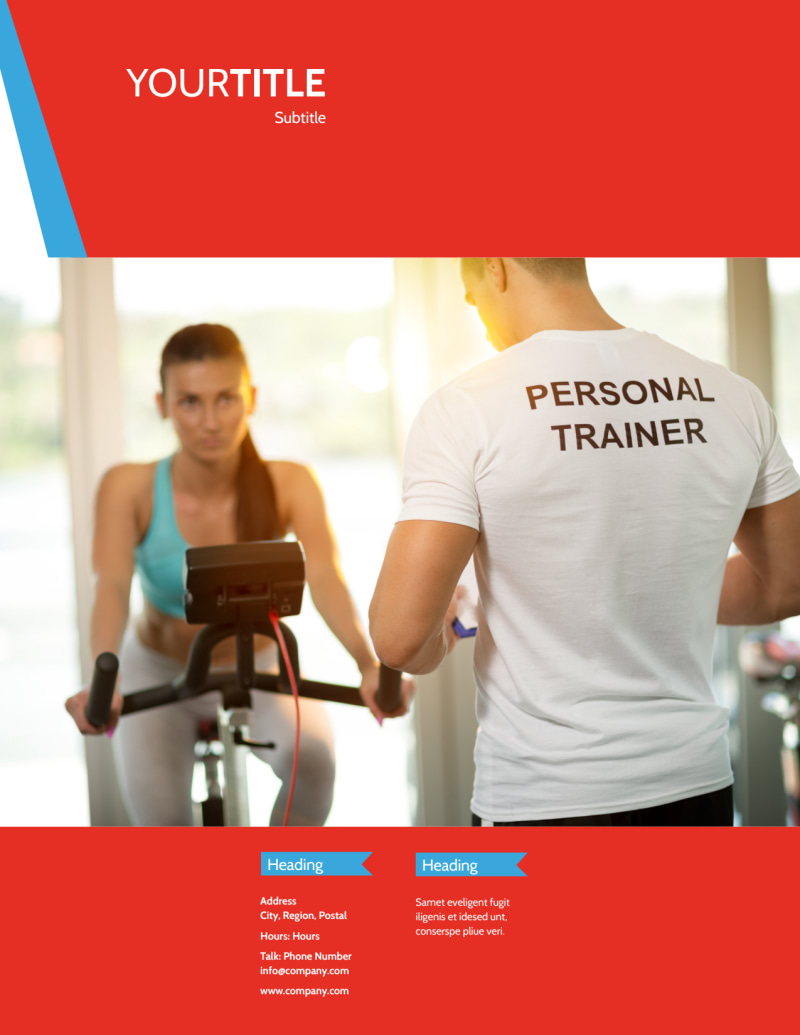 Fitness Center Flyer Template Preview 3