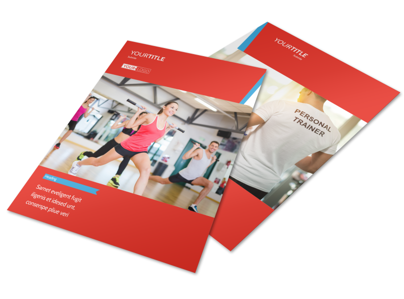 Fitness Center Flyer Template Preview 1