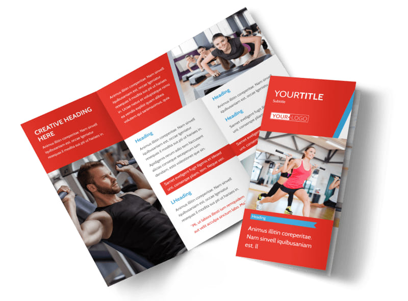 Fitness Center Brochure Sports Fitness Brochures – Gym Brochure Templates