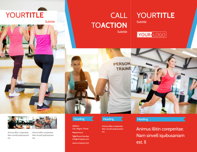 Fitness Center Brochure Template Preview 2