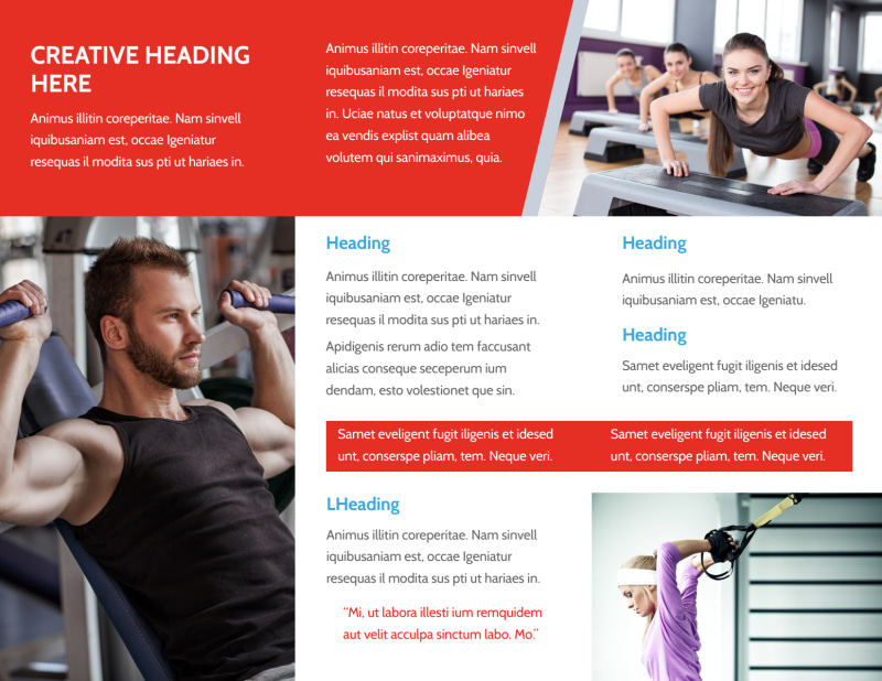 Fitness Center Brochure Template Preview 3