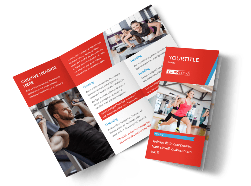 Fitness Center Brochure Template Preview 1