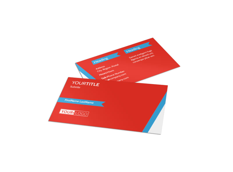 Health & Fitness Center Business Card Template