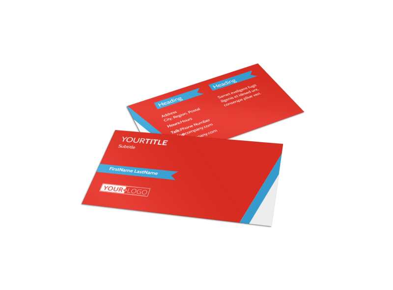 Fitness Center Business Card Template Preview 1