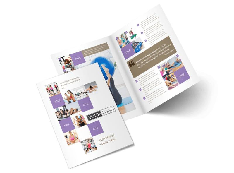 Elite Aerobics Bi-Fold Brochure Template 2