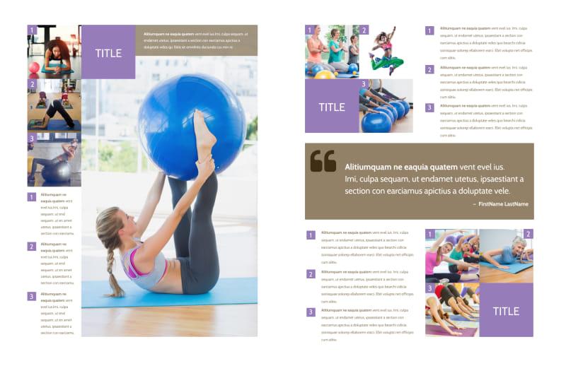 Elite Aerobics Brochure Template Preview 3