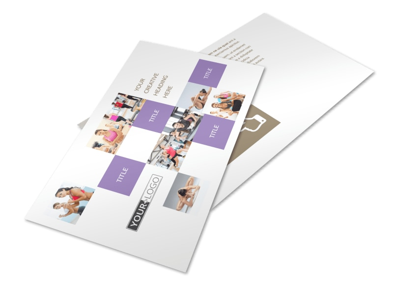 Elite Aerobics Postcard Template 2