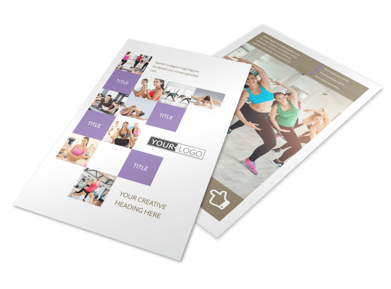 Elite Aerobics Flyer Template 3