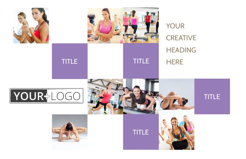 Elite Aerobics Postcard Template Preview 2