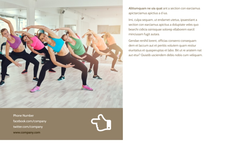 Elite Aerobics Postcard Template Preview 3