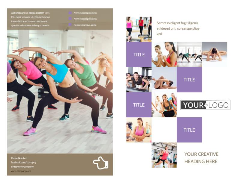 Elite Aerobics Brochure Template Preview 2