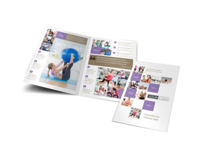Elite Aerobics Bi-Fold Brochure Template