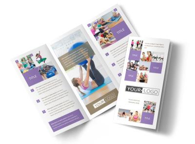 Elite Aerobics Tri-Fold Brochure Template