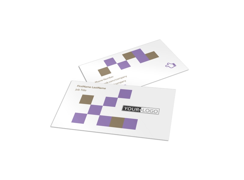 Elite Aerobics Business Card Template
