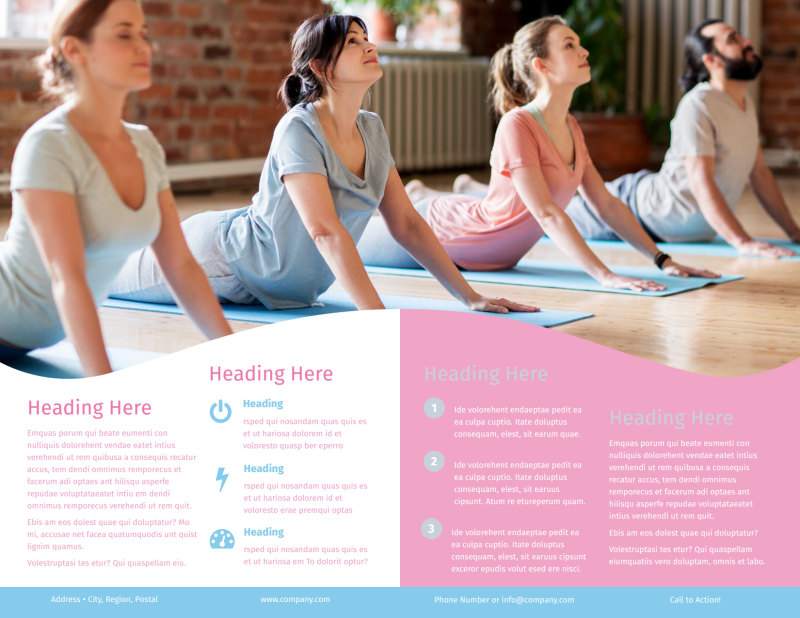 Core Yoga Brochure Template Preview 3