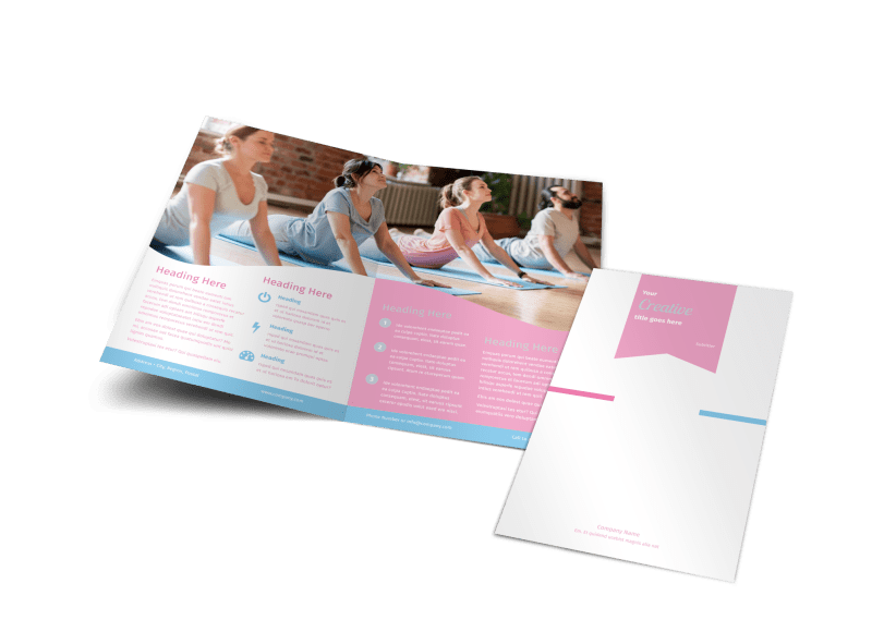 Core Yoga Brochure Template Preview 1
