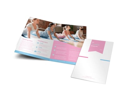 Core Yoga Bi-Fold Brochure Template