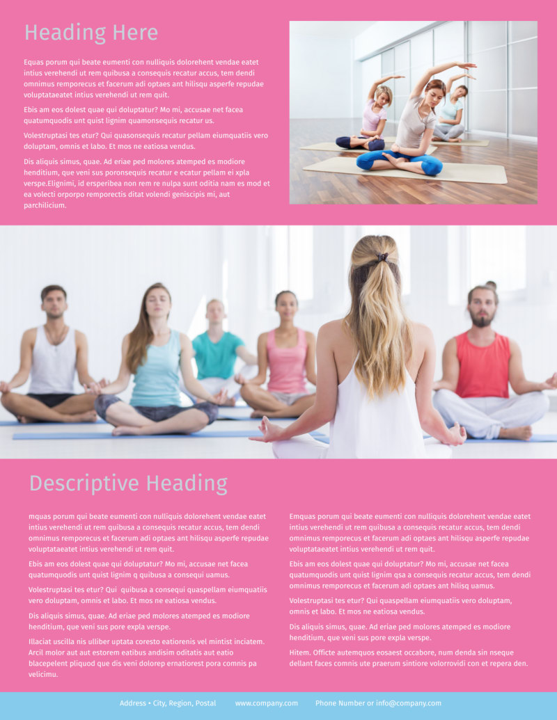 Core Yoga Flyer Template Preview 3