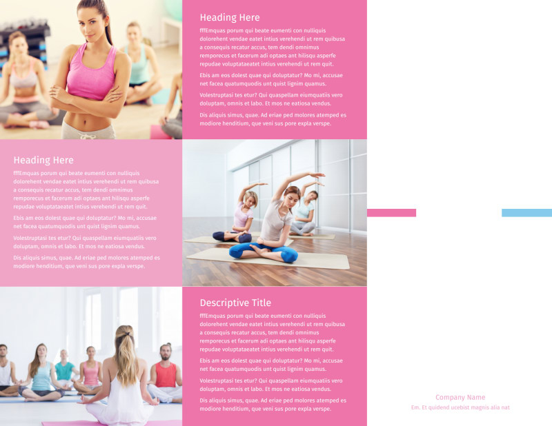 Core Yoga Brochure Template Preview 2